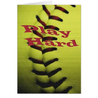 Le base-ball de Har de jeu Carte De Vœux