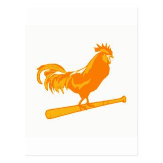 Le base-ball de ranch de poulet carte postale