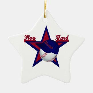 Le base-ball dur de jeu et ornement d'étoile de ch