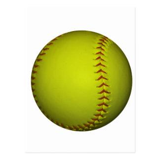 Le base-ball élevé de jaune de visibilité carte postale