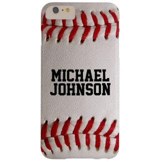Le base-ball folâtre la texture avec le nom coque iPhone 6 plus barely there