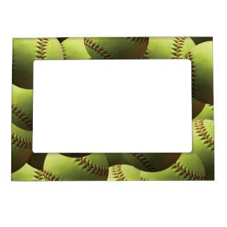 Le base-ball jaune éternellement cadres magnétiques