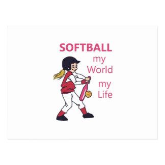 Le base-ball mon monde carte postale