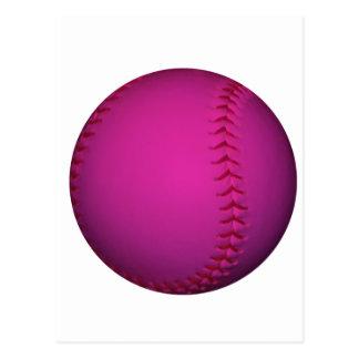 Le base-ball rose carte postale