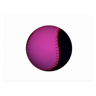 Le base-ball rose et noir cartes postales
