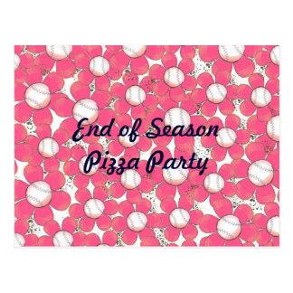 Le base-ball rose fleurit la carte postale
