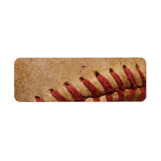 Le base-ball vintage - les base-ball de modèle de  étiquette d'adresse retour