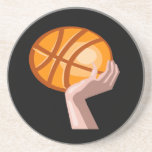 Le basket-ball folâtre le caboteur de boisson de g dessous de verres