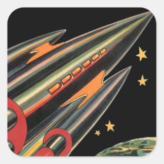 Le bateau vintage de Rocket de la science-fiction, Adhésifs