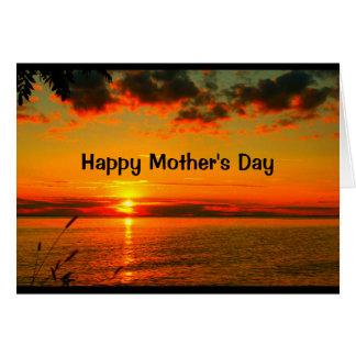 Le beau jour de mère du lever de soleil au coucher carte de vœux