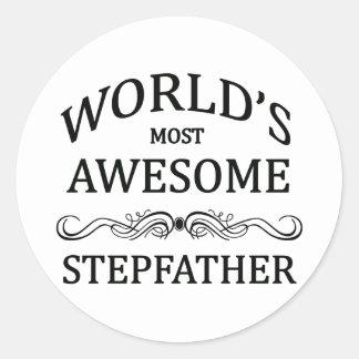 Le beau-père le plus impressionnant du monde sticker rond