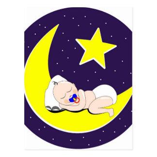 Le bébé de Ramadan dort sur la lune Carte Postale