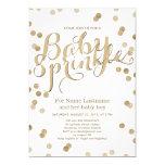 Le bébé moderne de confettis d'or de Faux arrosent Carton D'invitation 12,7 Cm X 17,78 Cm