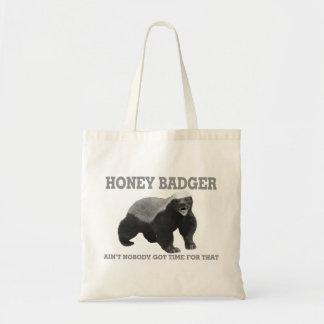 Le blaireau de miel n'est personne heure obtenue sac en toile budget