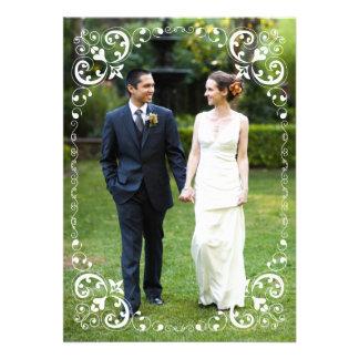Le blanc de frontière de photo de mariage met en r