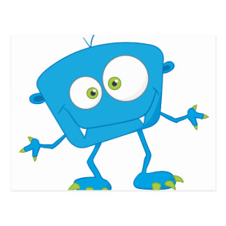 Le bleu badine l'alien de monstre cartes postales