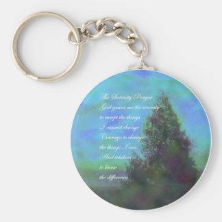 Le bleu de prière de sérénité opacifie Keychain Porte-clef