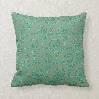 Le bleu ondule sur la sauge oreillers