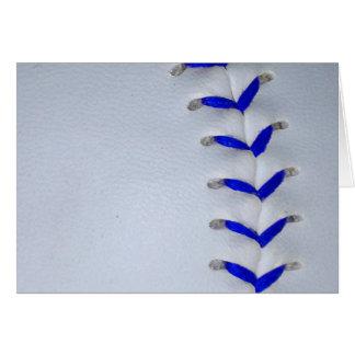 Le bleu pique le base-ball/base-ball carte de vœux