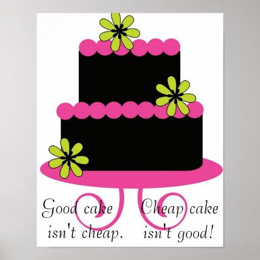le bon gâteau n'est pas affiche bon marché