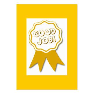 Le bon travail ! Carte de récompense Modèle De Carte De Visite