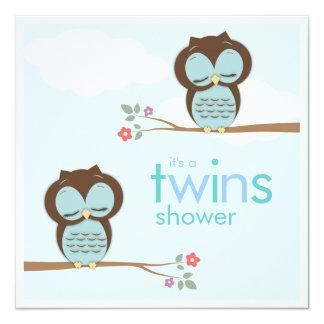 Le bonbon jumelle l'invitation de baby shower de carton d'invitation  13,33 cm