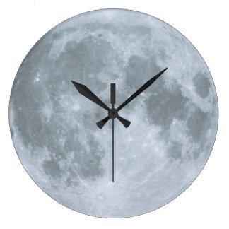Le bonbon sommeille lune bleue de crèche grande horloge ronde