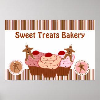 Le bonbon traite des affaires de boulangerie affiche
