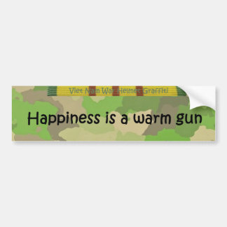 Le bonheur est une arme à feu chaude autocollant de voiture