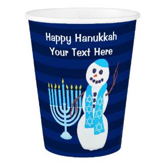 Le bonhomme de neige juif de Z Hanoukka Gobelets En Papier