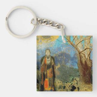 Le Bouddha (The Buddha) Double-Sided Square Acrylic Keychain
