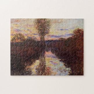Le Bras de Mousseaux Evening Monet Fine Art Jigsaw Puzzle