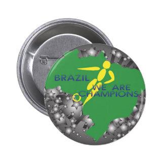 Le Brésil 2010 Badges Avec Agrafe