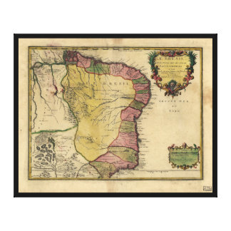 Le Bresil (Brazil) by Nicolas de Fer from 1719 Canvas Print