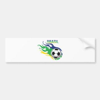 Le Brésil frais Futebol Autocollant De Voiture