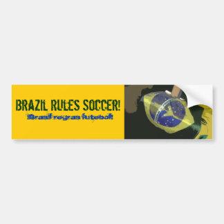 Le Brésil ordonne le football ! Autocollant De Voiture