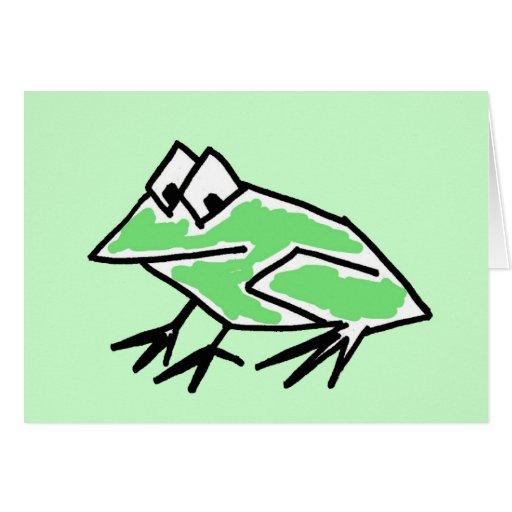 Le BT cartes pour notes de grenouilles ou cartes