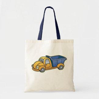 Le camion à benne basculante badine l'art sacs en toile