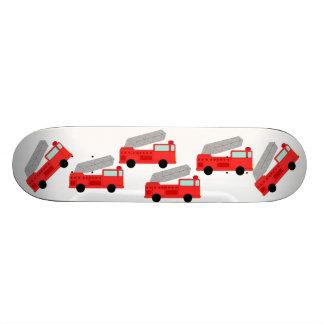Le camion de pompiers allume l'urgence de destin d plateaux de skateboards customisés