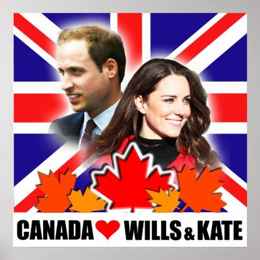 Le Canada aime prince William et affiche de Kate
