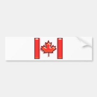 Le Canada (drapeau d'artiste) Autocollant De Voiture
