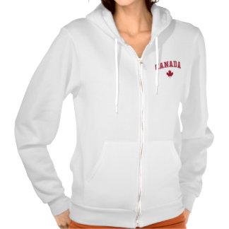 Le Canada + Feuille d'érable Sweatshirts Avec Capuche