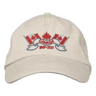 Le Canada marque l'anniversaire 150 Chapeaux Brodés