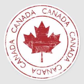 Le Canada vintage Adhésif Rond