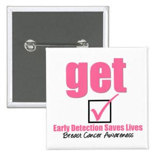 Le cancer du sein obtiennent v1 vérifié macaron carré 5 cm