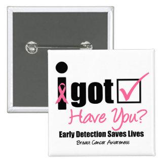 Le cancer du sein obtiennent v5 vérifié macaron carré 5 cm