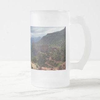 Le canyon grand de traînée lumineuse d'ange mug en verre givré