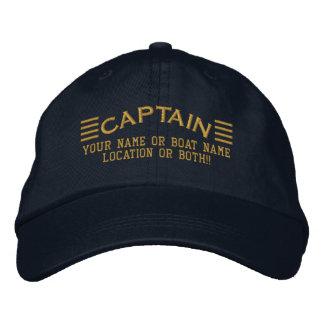 Le CAPITAINE rayures a personnalisé vos gens du Casquette Brodée