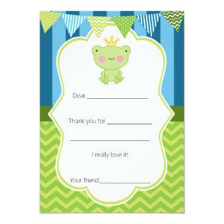 Le carte de remerciements de prince Frog