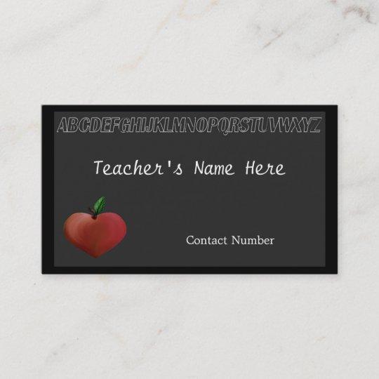 Le Carte De Visite Du Professeur Noir Conseil